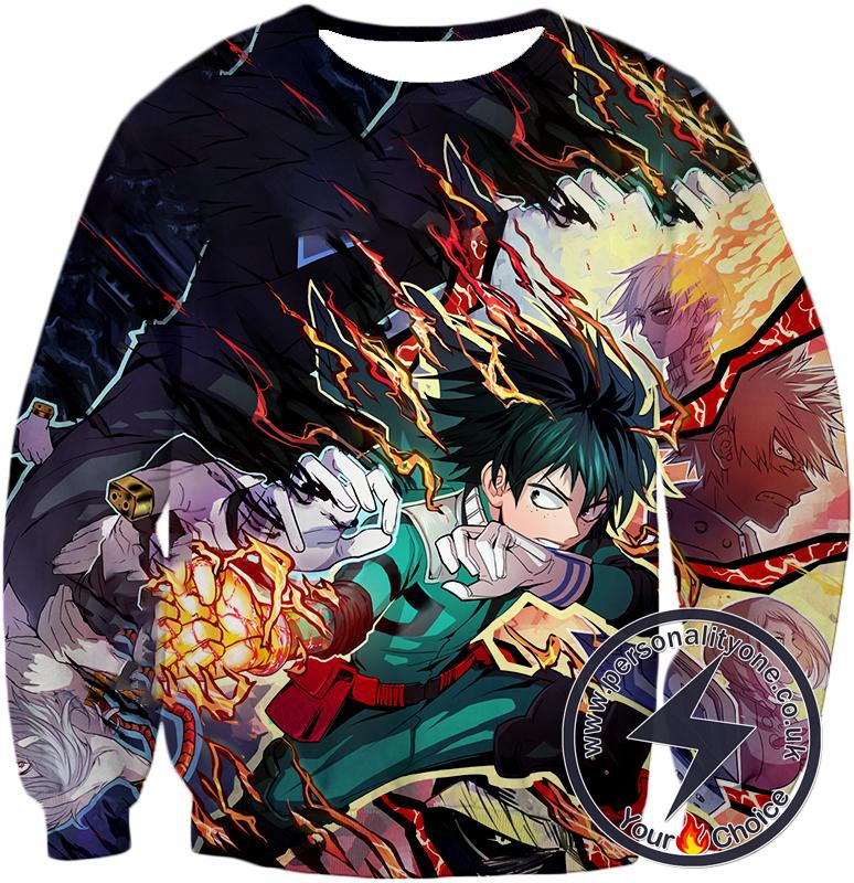 My Hero Academia Awesome Hero Izuki Midoriya One for All Quirk Sweatshirt