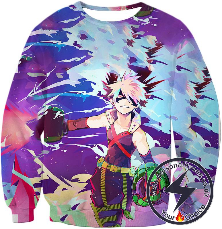 My Hero Academia Cool Explosive Hero Bakugo Action Sweatshirt