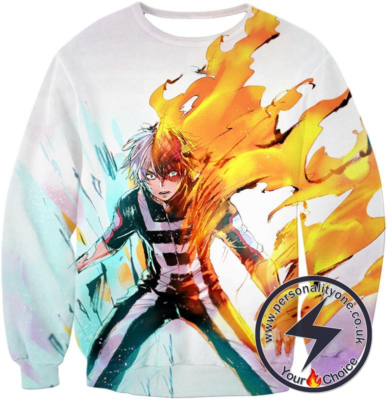 My Hero Academia Half-Cold Half-Hot Shoto Todoroki Sweatshirt