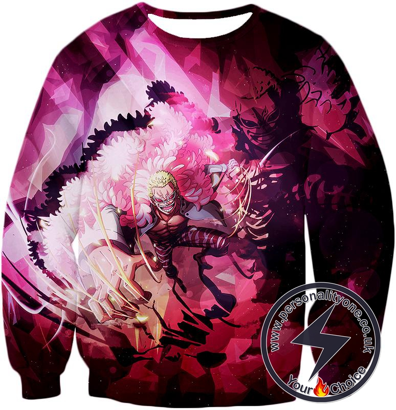 One Piece Awesome One Piece Villain Warlord Doflamingo aka Joker Cool Sweatshirt