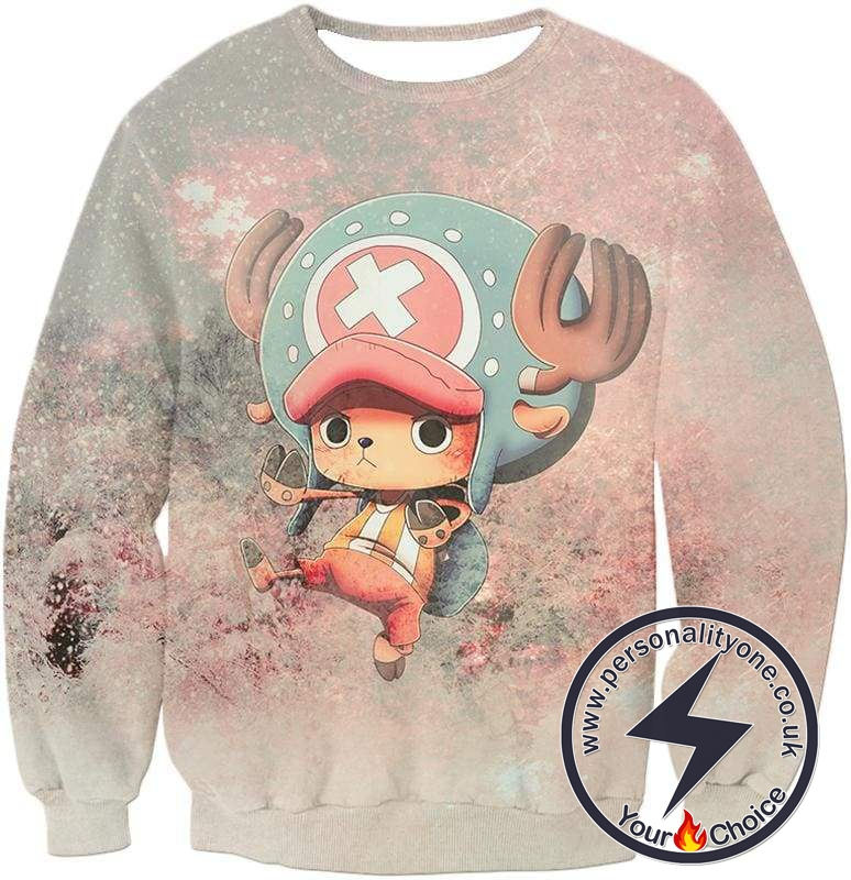 One Piece Awesome Reindeer Doctor Tony Tony Chopper Cool Action Sweatshirt