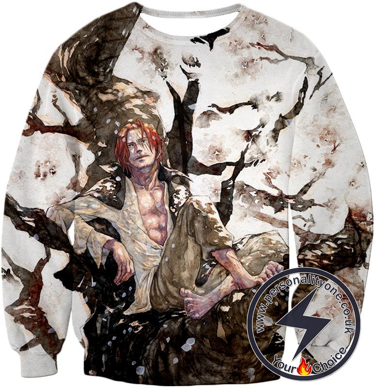 One Piece Coolest Pirate Emperor Shanks Awesome Sweatshirt