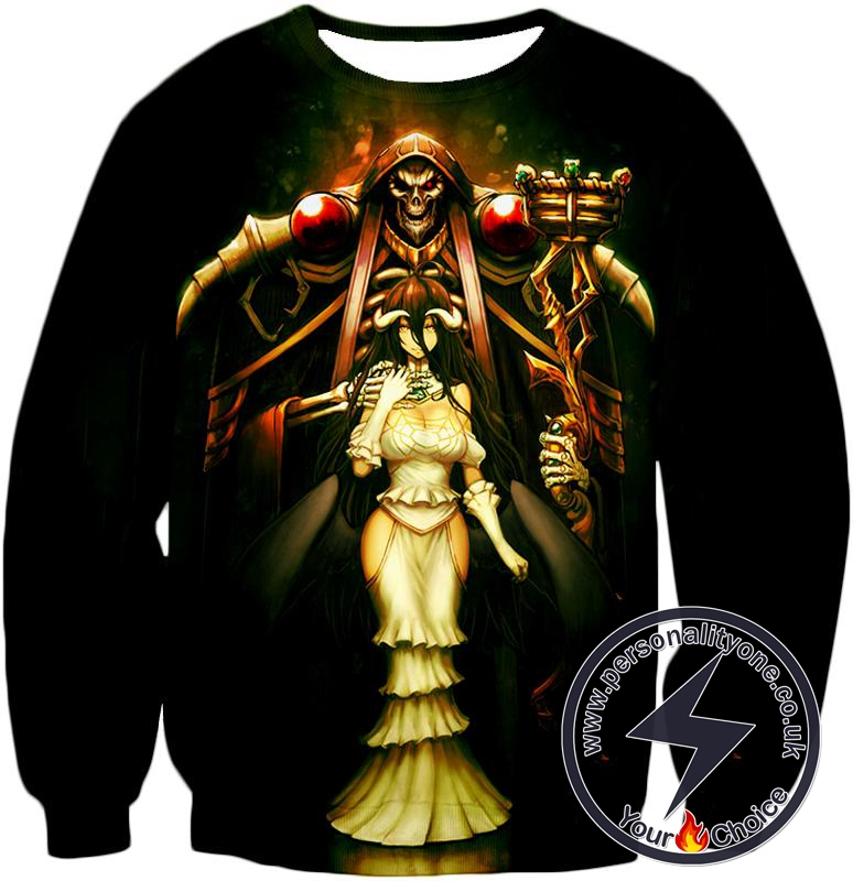 Overlord Sorcerer King Ainz Ooal Gown and White Devil Albedo Cool Anime Promo Sweatshirt