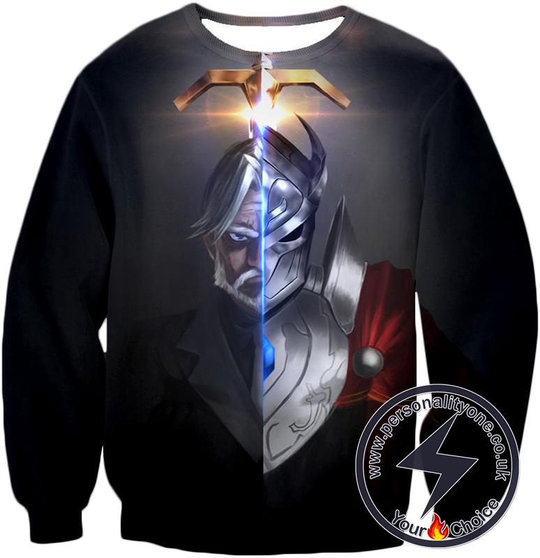 Overlord The Iron Butler and Touch Me Super Cool Anime Black Sweatshirt