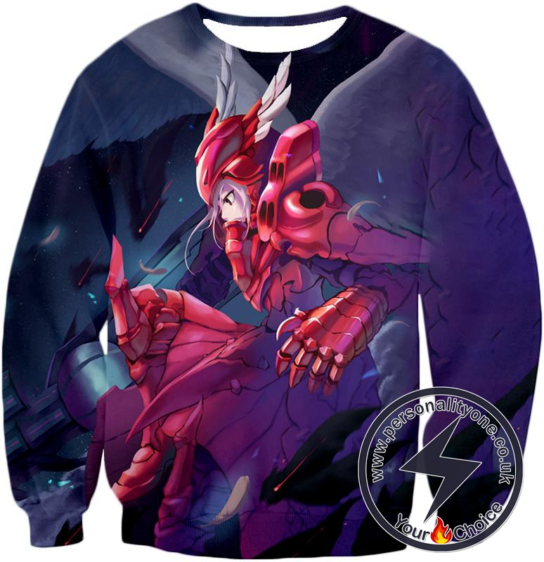 Overlord True Vampire Shalltear Bloodfallen Awesome Red Armor Anime Action Sweatshirt