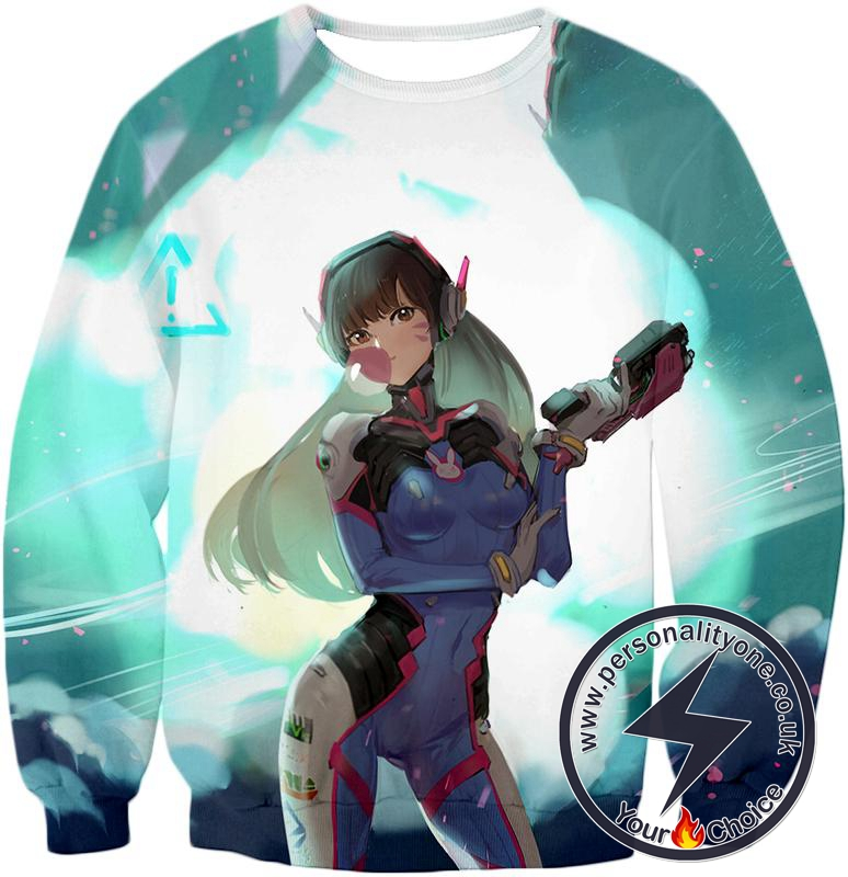 Overwatch Awesome Tank Support D.Va Sweatshirt