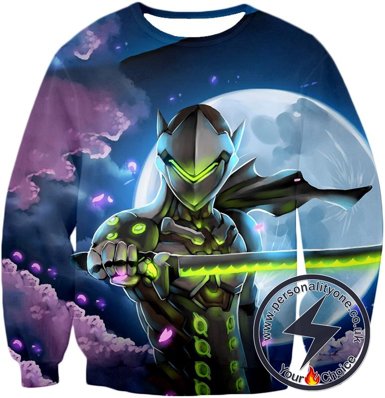 Overwatch Master Fighter Cyborg Ninja Genji Cool Action Sweatshirt