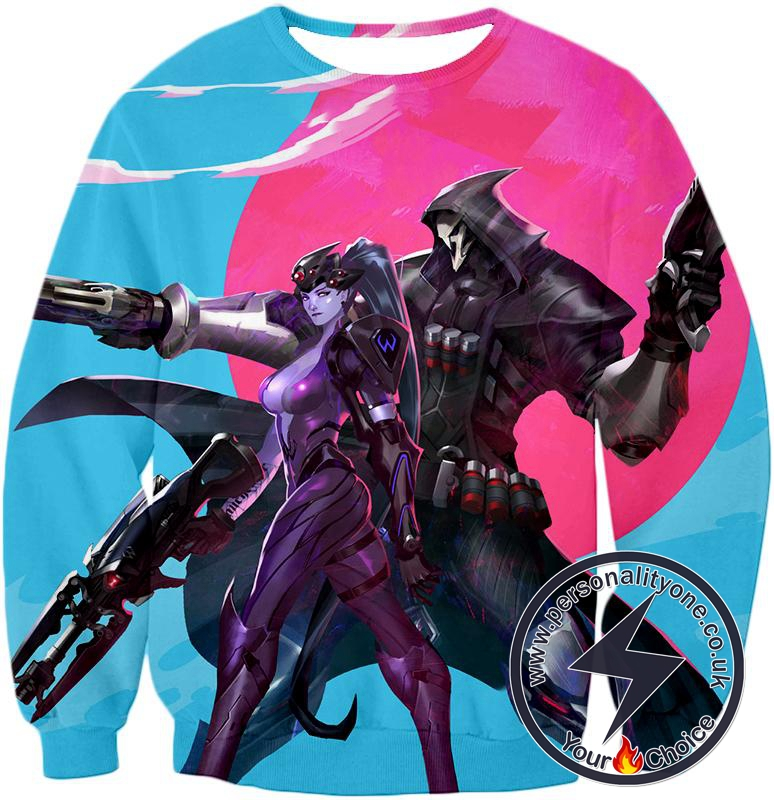 Overwatch Talon Affiliated Fighters Reaper and Widowmaker Sweatshirt
