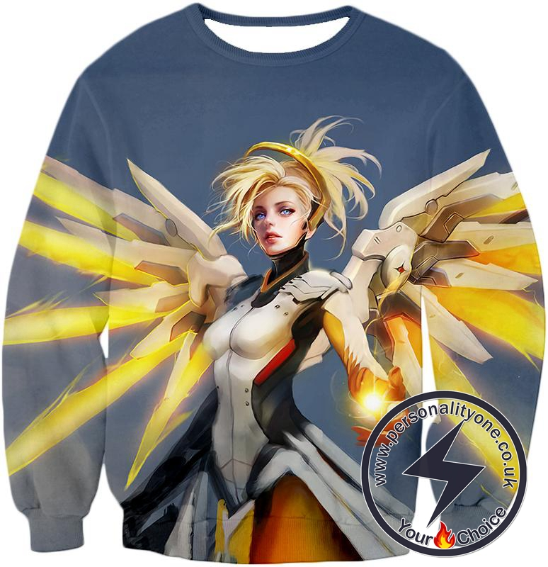 Overwatch Team Healer Flying Mercy Sweatshirt