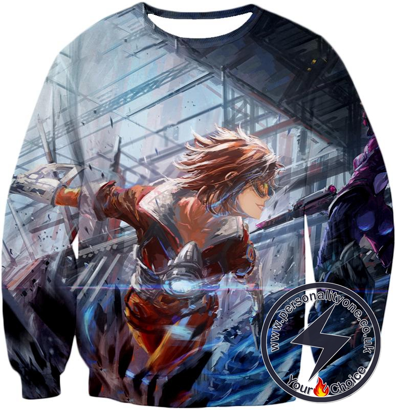 Overwatch Time Traveler Tracer Sweatshirt