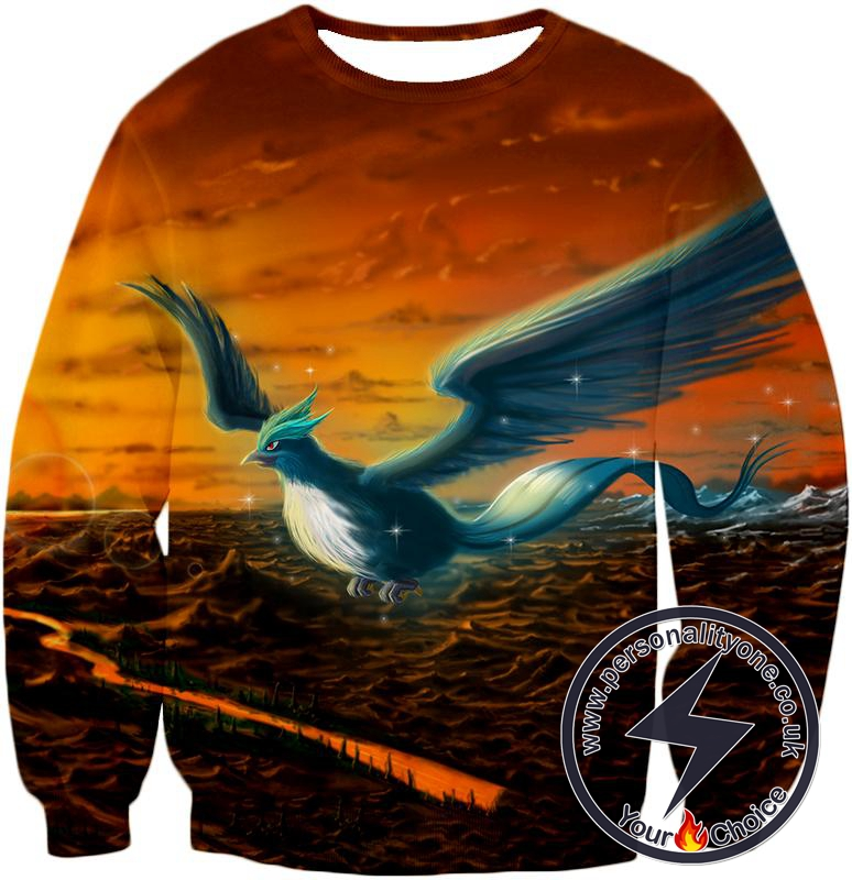 Pokemon Amazing Mystic Flying Ice Pokemon Articuno Beautiful Sweatshirt