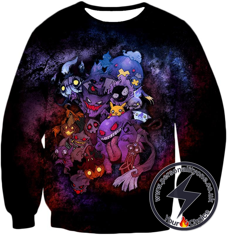Pokemon Awesome All Zombie Type Pokemons Super Cool Graphic Sweatshirt