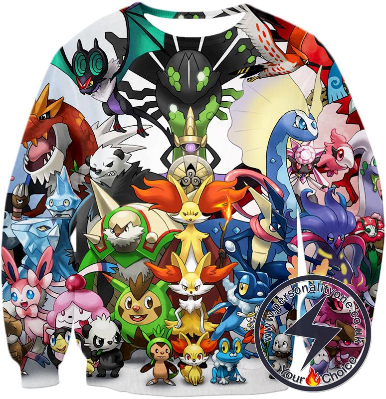 Pokemon Awesome Pokemon X and Y Series All in One Cool Sweatshirt