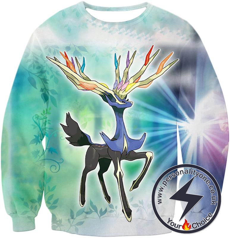 Pokemon Beautiful Fairy Pokemon Species Xerneas Sweatshirt