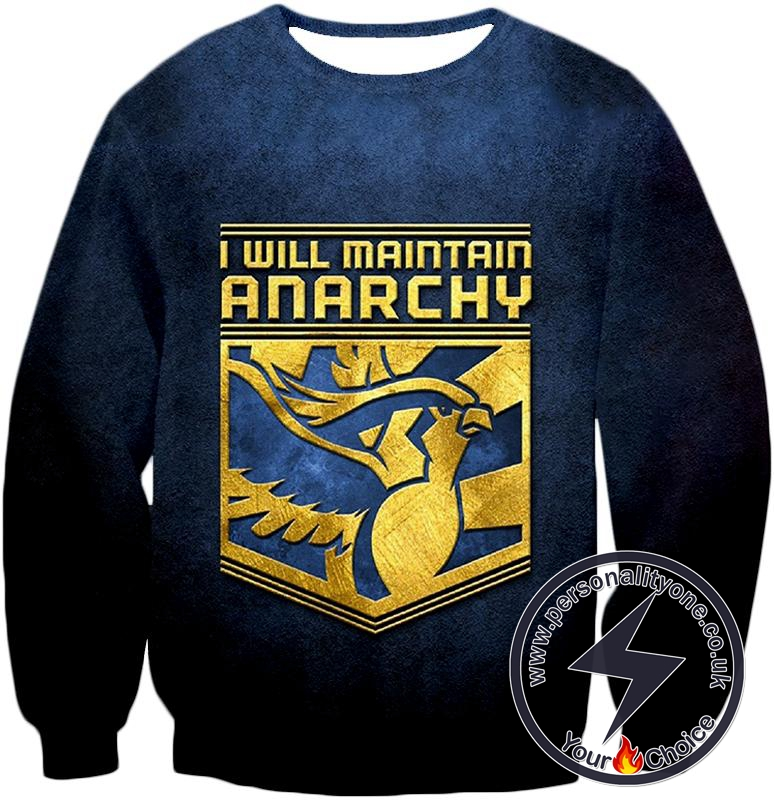 Pokemon I Will Maintain Anarchy Pokemon Promo Quote Cool Sweatshirt