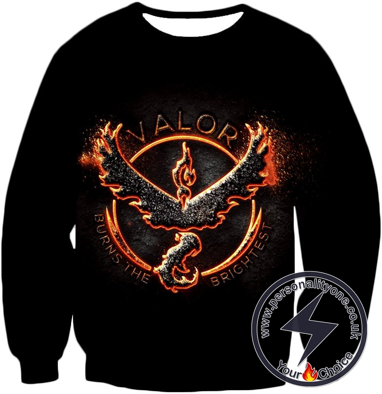 Pokemon Legendary Fire Pokemon Moltress Quoted Logo Super Cool Black Sweatshirt