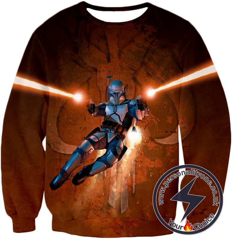 Star Wars Awesome Bounty Hunter Boba Fett Cool Action Graphic Sweatshirt