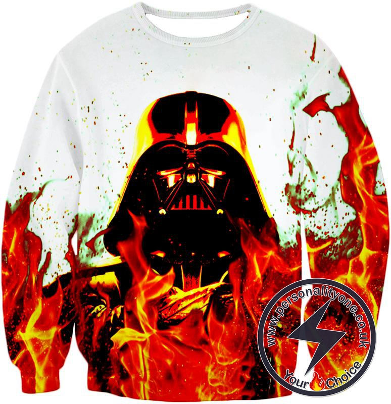Star Wars Burning Forever Sith Lord Darth Vader Awesome Graphic Sweatshirt