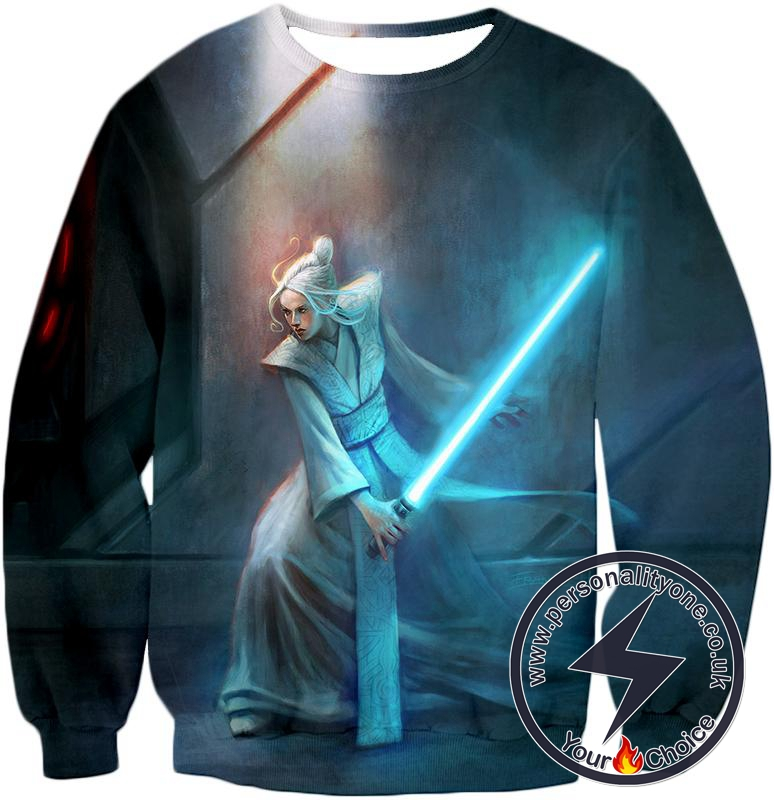 Star Wars Cool Star Wars 3D Action White Haired Woman Awesome Graphic Sweatshirt