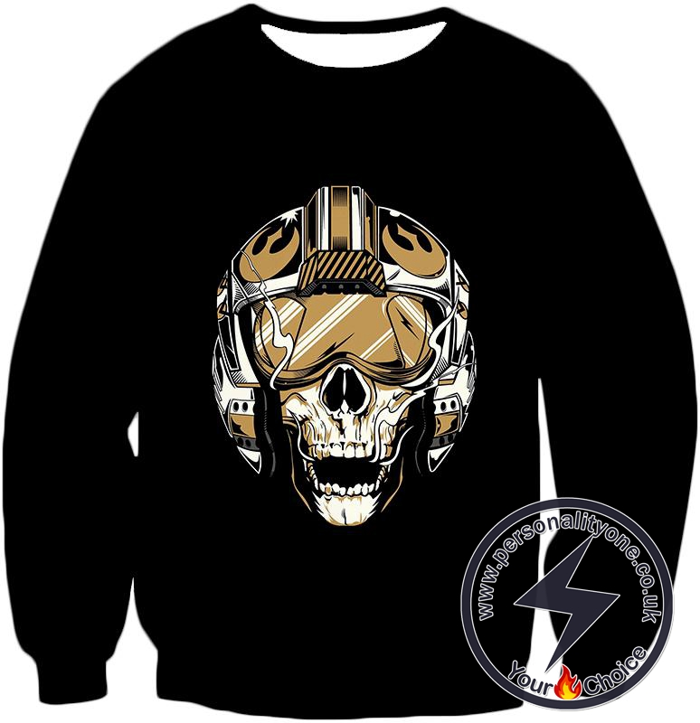 Star Wars Cool Star Wars Rebel Dead Pilot Helmets Black Sweatshirt