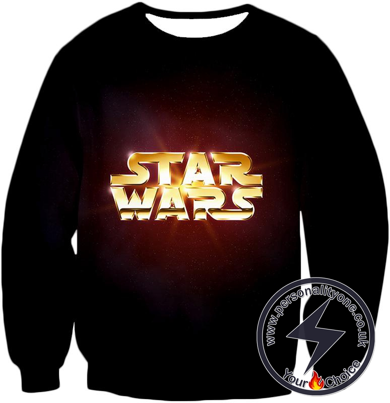 Star Wars Super Cool Golden Star Wars Promo Awesome Black Sweatshirt
