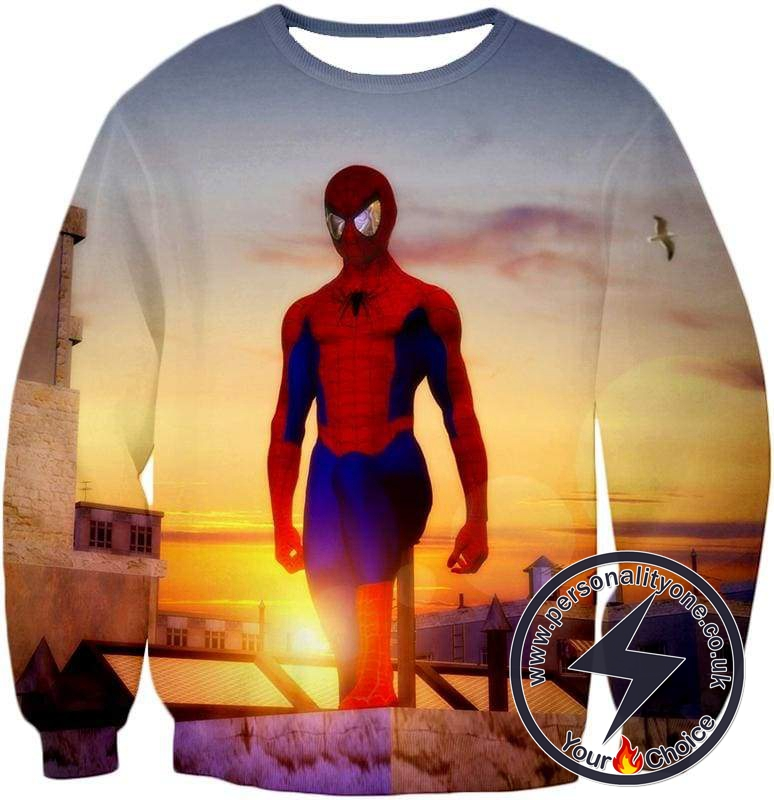Superhero Spiderman From Dusk to Dawn Cool Sweatshirt