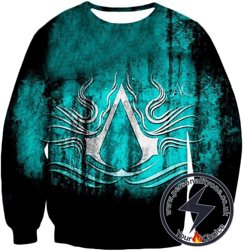 Ultimate Assassin's Creed Logo Awesome Graphic Promo Sweatshirt