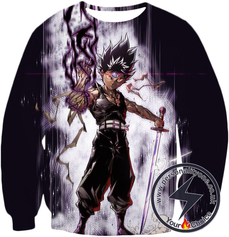 Yu Yu Hakusho Hiei Dragon of The Darkness Flame Sweatshirt - Yu Yu Hakusho 3D Sweatshirts And Clothing