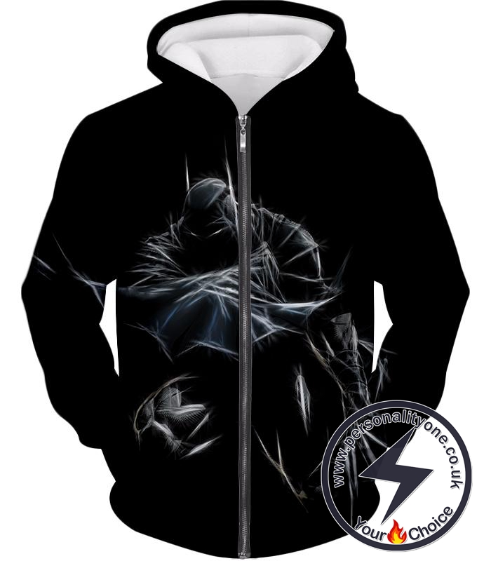 Amazing Fan Art Batman Cool Black Zip Up Hoodie