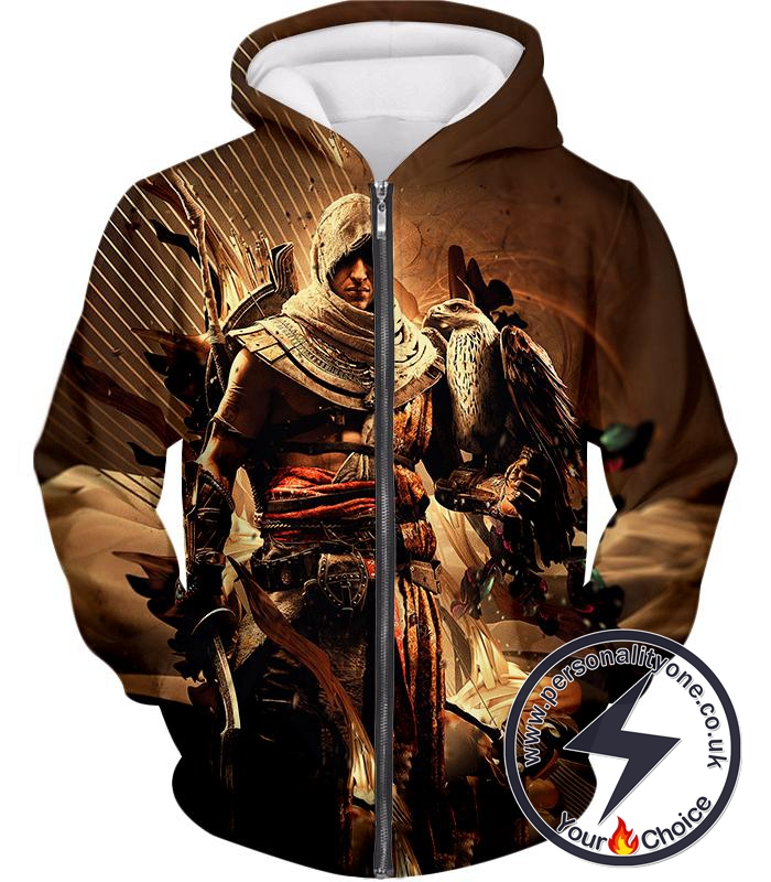 Assassin S Creed Origins Bayek Of Siwa Cool Graphic Zip Up Hoodie