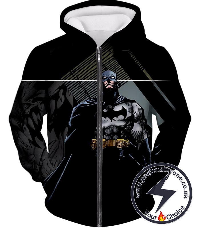 Batman the Animated Series Cool Graphic Promo Zip Up Hoodie