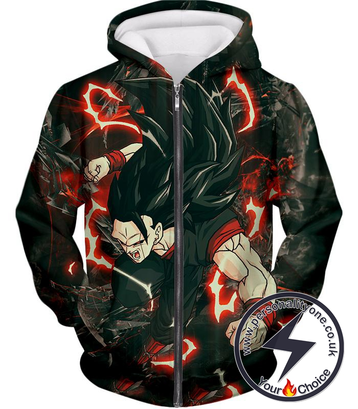 Dragon Ball Super Awesome Vegito Ultimate Super Saiyan 8 Mode Cool Action Zip Up Hoodie
