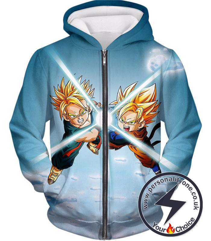Dragon Ball Super Cool Saiyans Gotan x Trunks Blast Action Zip Up Hoodie