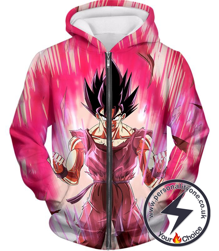 Dragon Ball Super Harnessing Ultimate Power Goku Rising Cool Graphic Promo Zip Up Hoodie