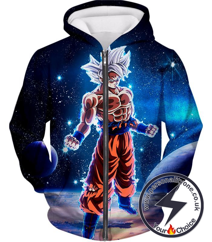 Dragon Ball Super Latest Goku Transformation Cool Limit Breaker Form Zip Up Hoodie