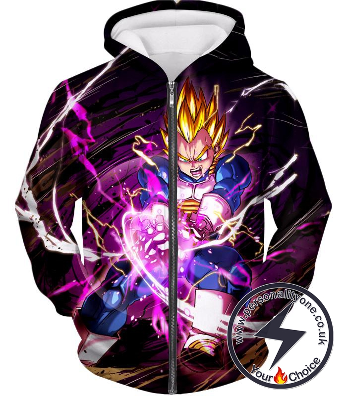 Dragon Ball Super Super Saiyan Warrior Prince Vegeta Ultimate Action Zip Up Hoodie