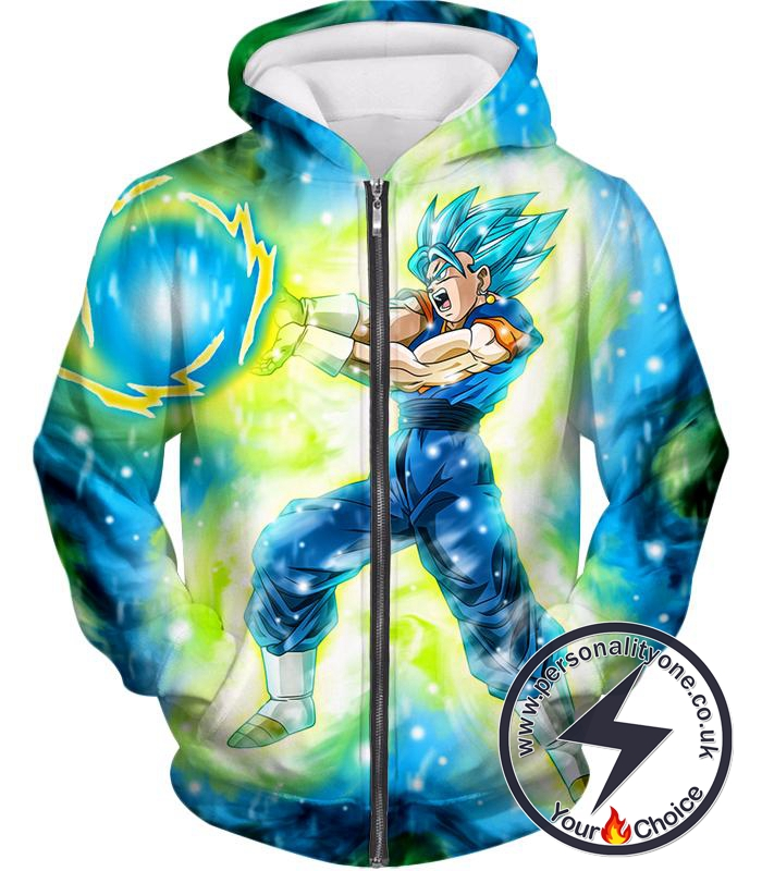 Dragon Ball Super Ultimate Blast Super Saiyan Blue Vegito Cool Action Zip Up Hoodie