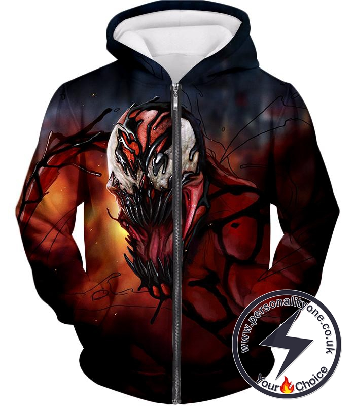 Extremely Awesome Symbiotic Creature Carnage Zip Up Hoodie