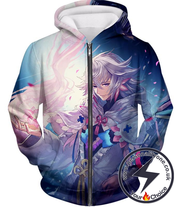 Fate Stay Night Handsome Grand Order Caster Merlin Zip Up Hoodie