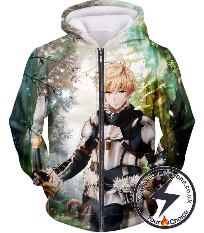 Fate Stay Night Saber Class Male King Arthur Awesome Zip Up Hoodie