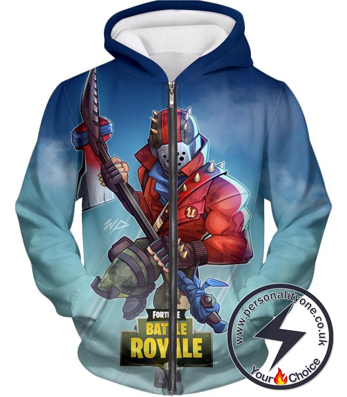 Fortnite Zip Up Hoodie Battle Royale Rust Lord Promo