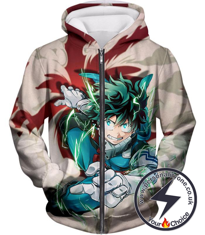 My Hero Academia One for All Hero Academia Deku Zip Up Hoodie