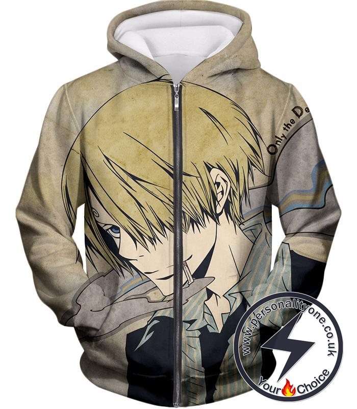 One Piece Straw Hat Pirate Chef Vinsmoke Sanji Cool Zip Up Hoodie