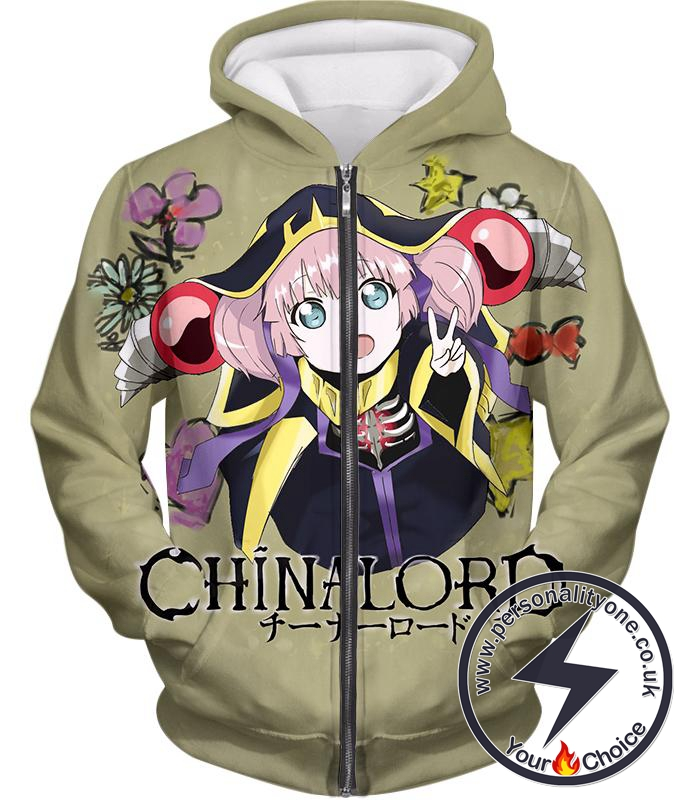 Overlord Super Cool Overlord Promo Roast Awesome Grey Chinalord Zip Up Hoodie