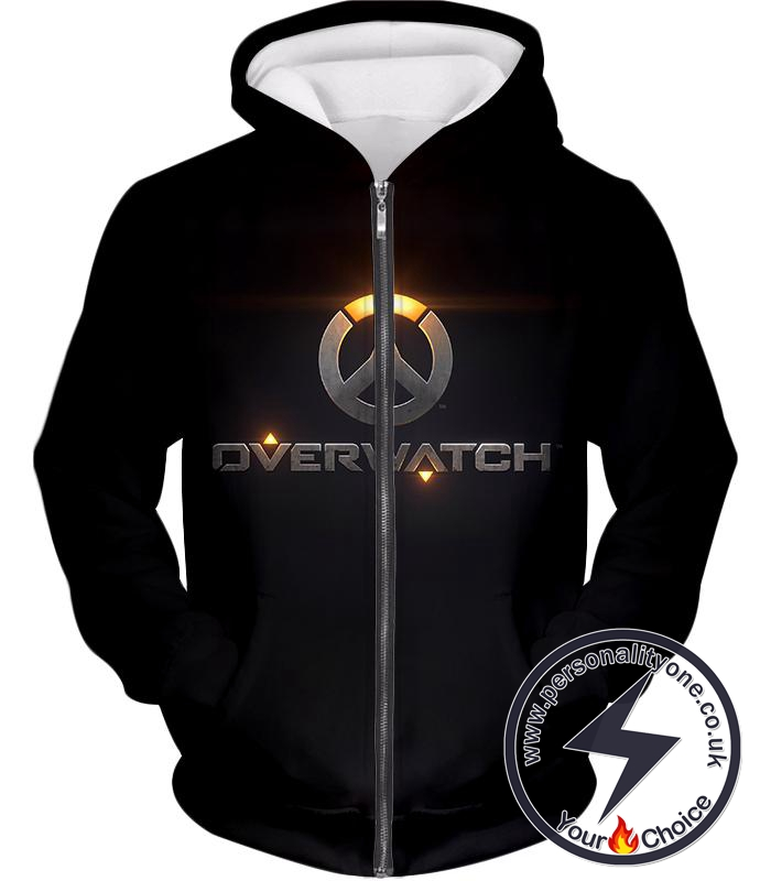 Overwatch Super Cool Overwatch Promo Black Zip Up Hoodie