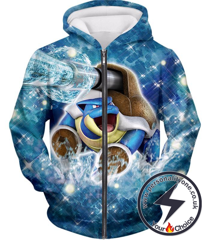 64175a7ed Pokemon Powerful Water Type Pokemon Blastoise Awesome Action Zip Up Hoodie  larger image