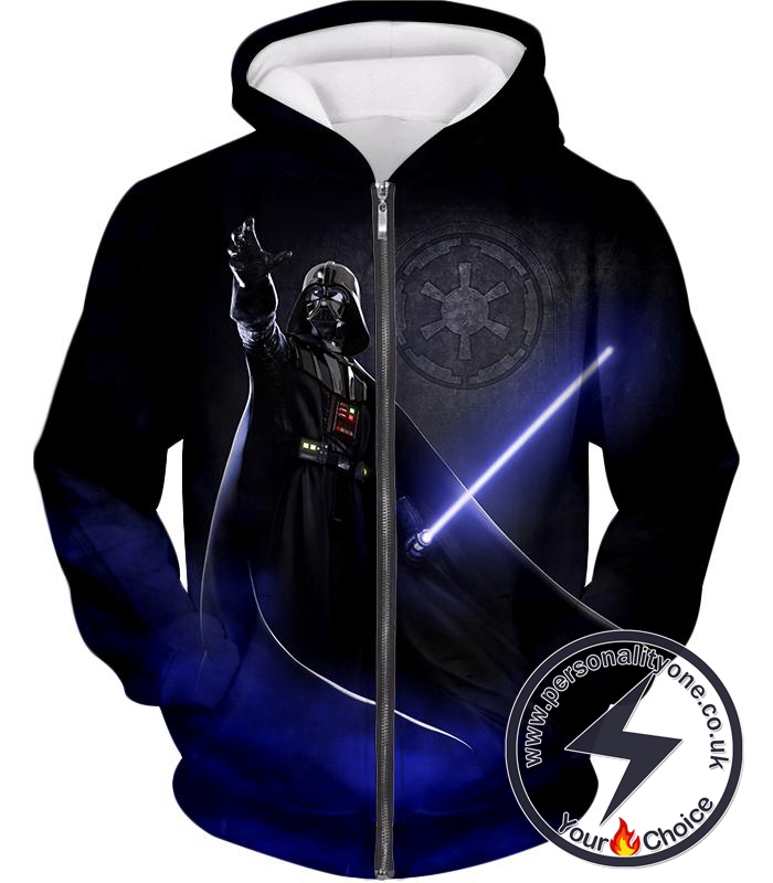 Star Wars Darth Vader Leader of Galactic Empire Awesome Action Black Zip Up Hoodie
