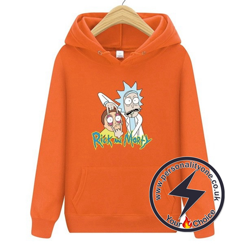 2020 Funny Rick And Morty Hoodie Orange