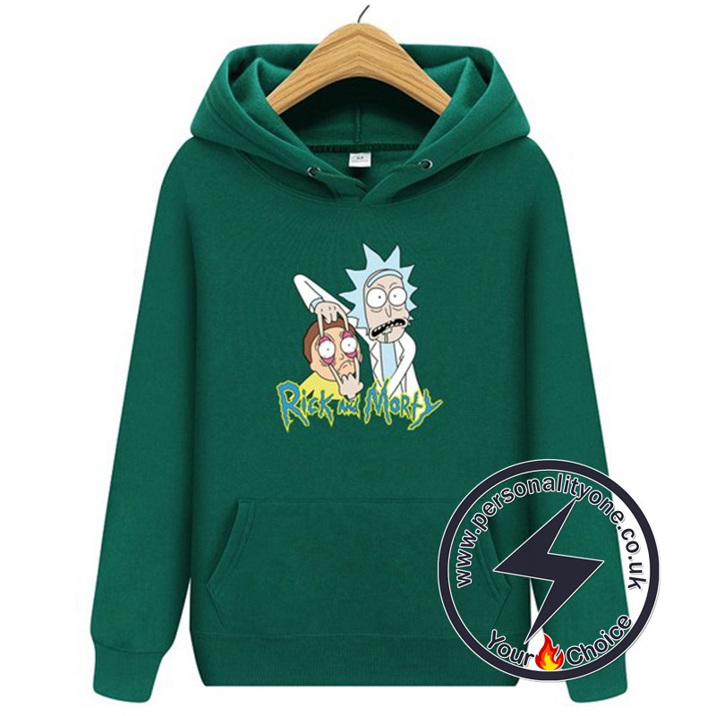 2020 Funny Rick And Morty Hoodie Green