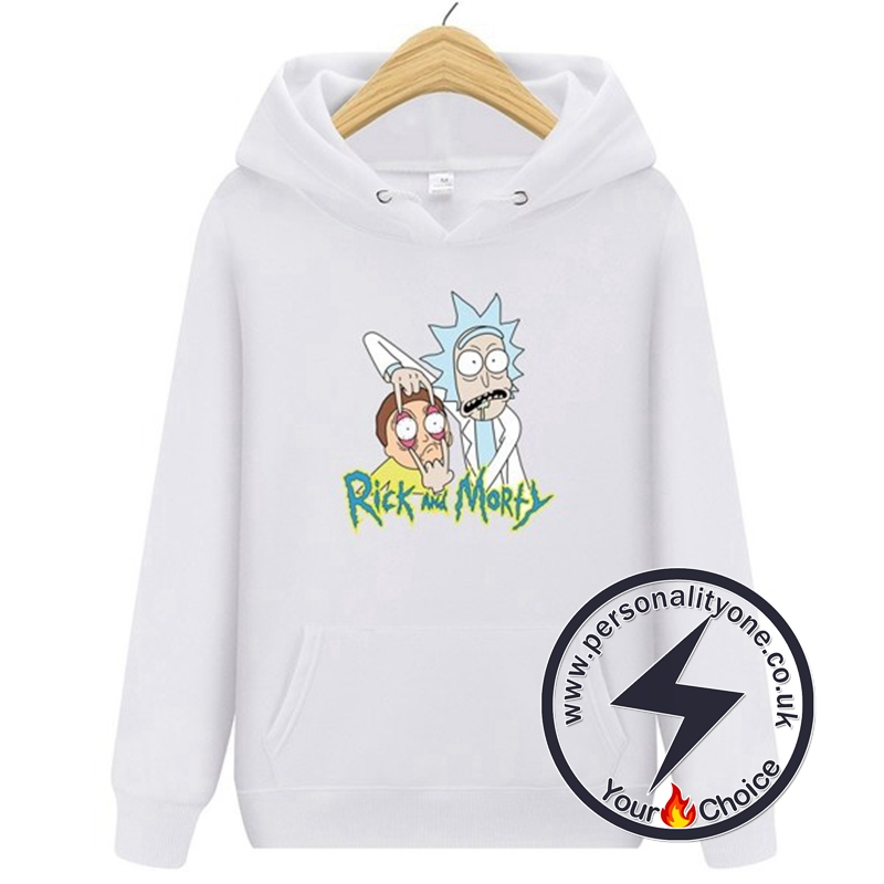 2020 Funny Rick And Morty Hoodie White